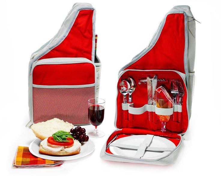 PICNIC BACKPACK | Wine Backpack, Red Sling Bag | UncommonGoods. This is an awesome idea.