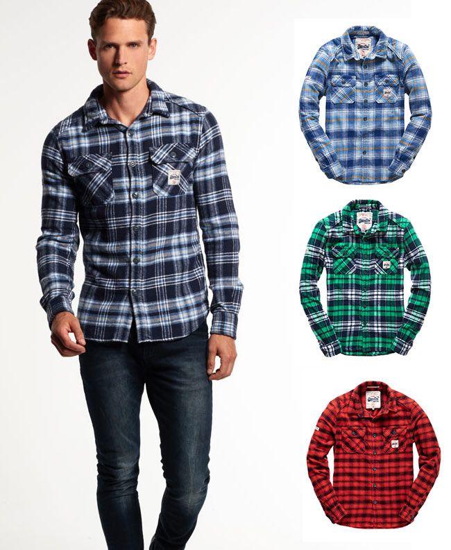 Superdry ofrece una gran variedad de camisas a cuadros perfectas para el día a día.  #Superdry #moda #hombre #camisa #cuadros #estilo