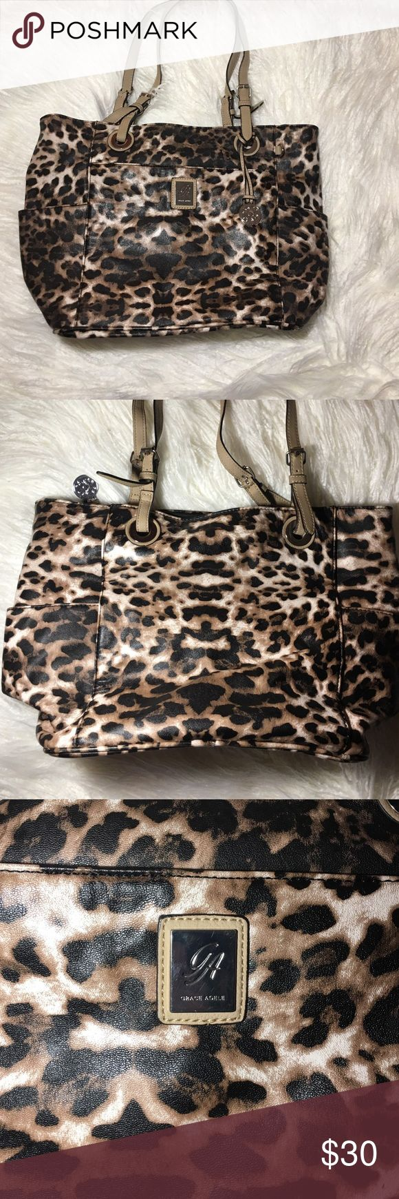 Big leopard Grace Adele bag-MOVING SALE Big leopard shoulder bag from Grace Adele! MOVING SALE, MAKE AN OFFER grace adele Bags Shoulder Bags