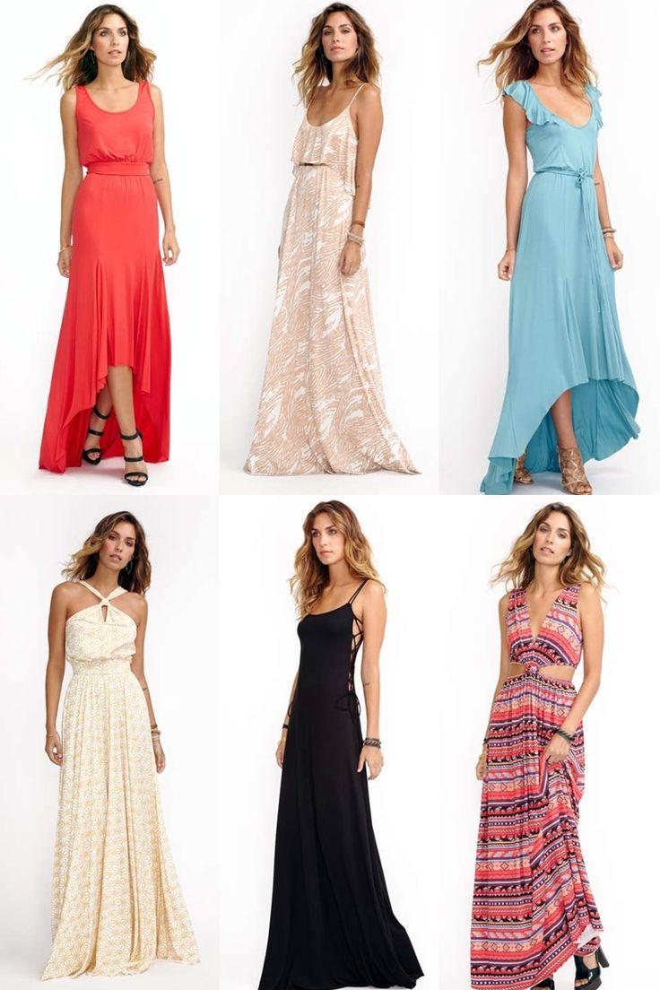 Debo encontrar un vestido largo tropical para un matrimonio.... ideas varias.