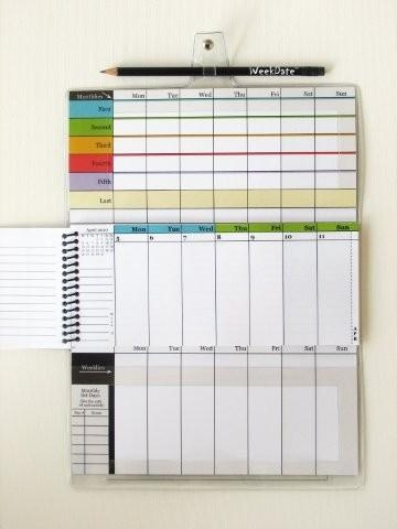 WeekDate, Best Paper Calendar, Weekly Planner, Organizer Calendar, Weekly Calendar // brilliant, monthlies on top, dailies in the middle, notes on the bottom