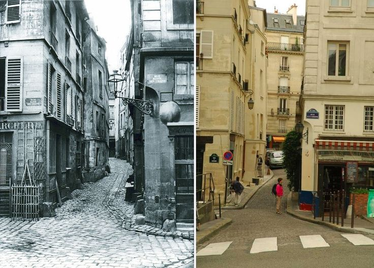 Little street on the ile de la cite in 1866. Some of the buildings survive today.
