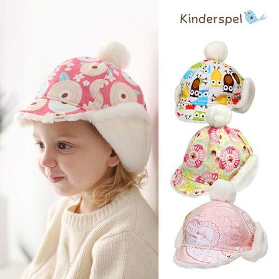 Kinderspel Baby Snow Fur Hat Hair Fashion Accessories 100% Cotton Made In Korea  #KinderspelKorea
