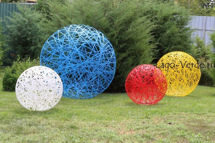 Скульптура- шар для декора сада и интерьера - современная скульптура, дизайнерская, для сада и интерьера: купить в интернет-магазине Lago Verde
