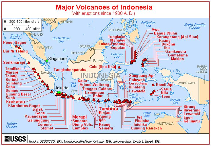 All Volcanoes in the World | Volcanoes and all things lava | A Year in Bali