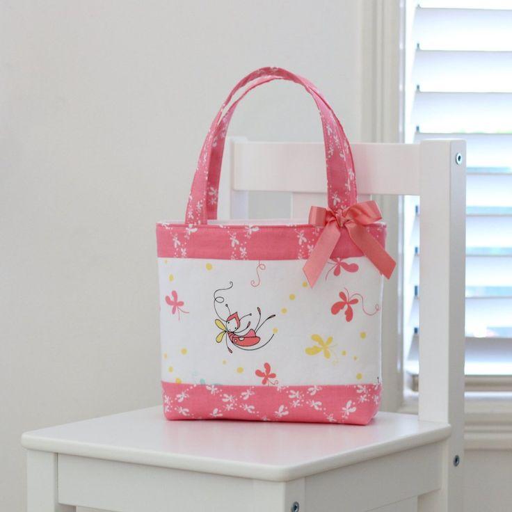 Little Girls Bag - Butterfly  Dance Pink
