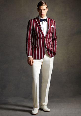 Elegante y con basta personalidad. Traje de Brooks Brothers para El Gran Gatsby. #Men #fashion #style #suit #tie #bowtie #shoes #hombre #moda #estilo