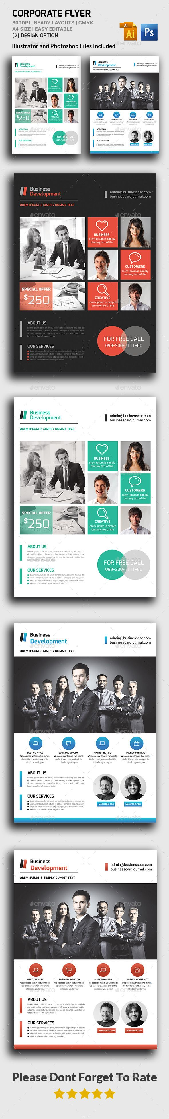 Corporate Flyers Template #design Download…