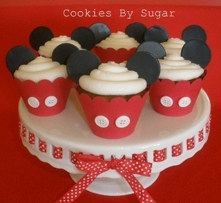 Mickey mouse cupcakes-I did something like this for my baby's 3rd Birthday