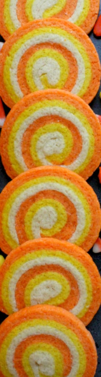 Candy Corn Swirl Cookies ~ Simple and delicious