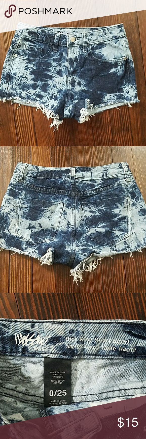 Acid Wash Shorts High rise short shorts Mossimo Supply Co Shorts