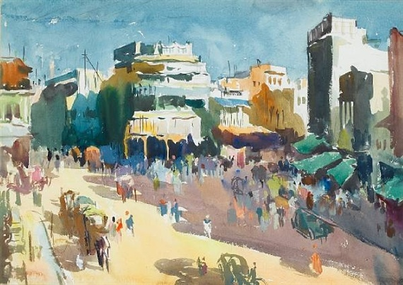 STREET SCENE  By Syed Haider Raza