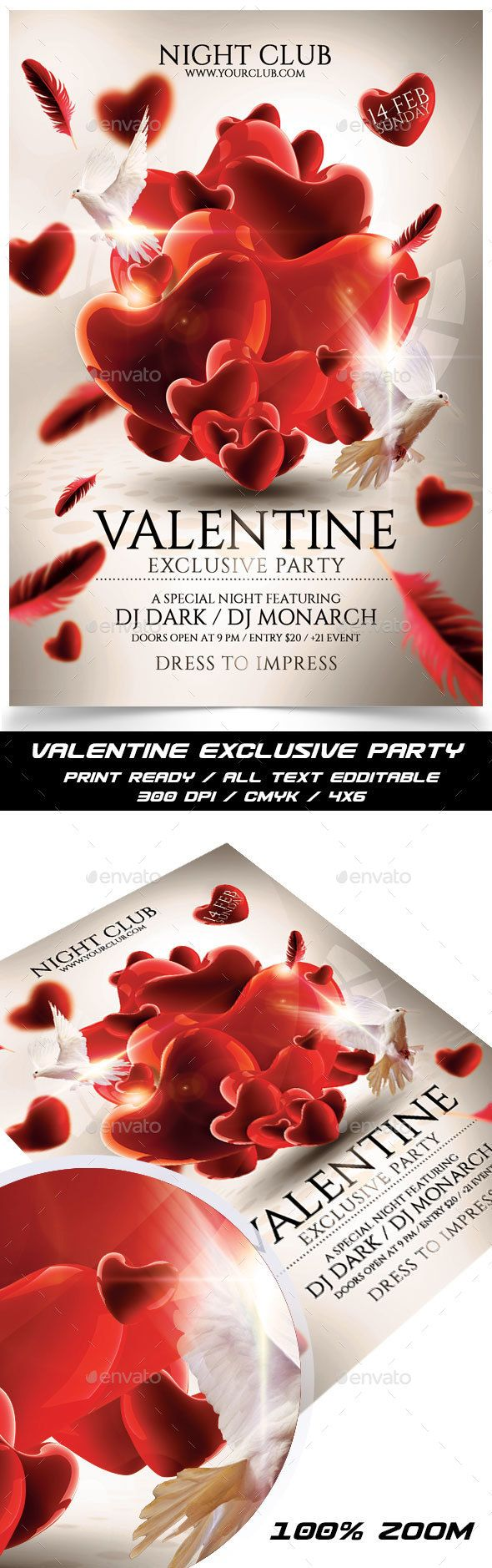 Valentine Exclusive Party,darkmonarch, day flyer template, red, valentine flyer, valentine's, valentine's day, valentine's flyer, valentine's poster, valentines, valentines day, valentines day party, valentines flyer