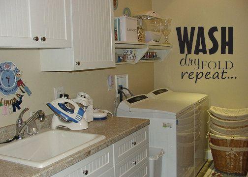 Best Laundry Room Quotes Images On Pinterest - Custom vinyl wall decals sayings for laundry room