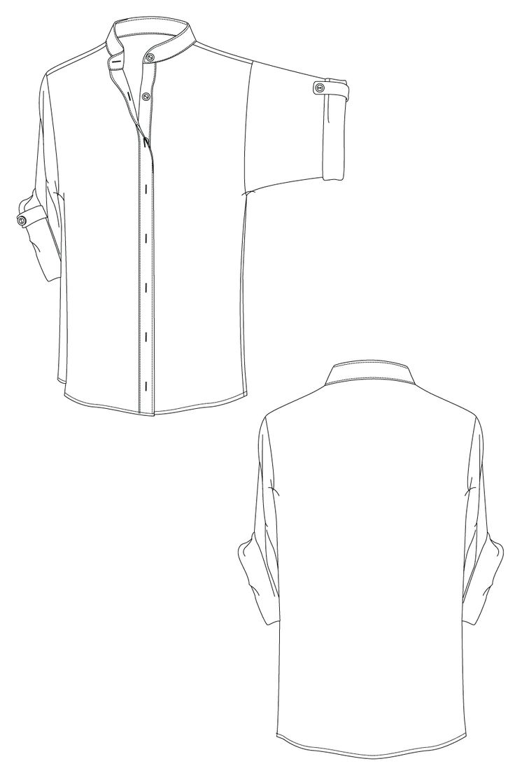 Lara shirt - shirt with kimono sleeves. flat drawing by Ralph Pink US sizes 0 -12