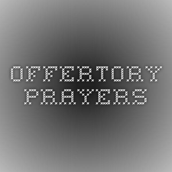 Offertory Prayers