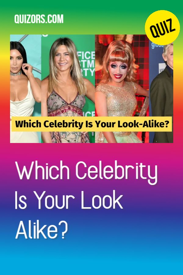 Which Celebrity Do I Look Like Quiz in 2020 | My celebrity