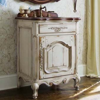 17 best images about farmhouse everything on pinterest copper flu bug and kitchen sinks - Mobili shabby chic bagno ...