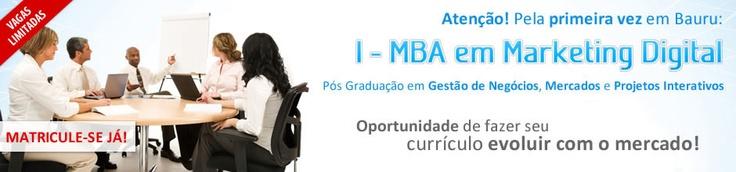 Pós Graduação em Marketing Digital! Melhores professores/profissionais do mercado.