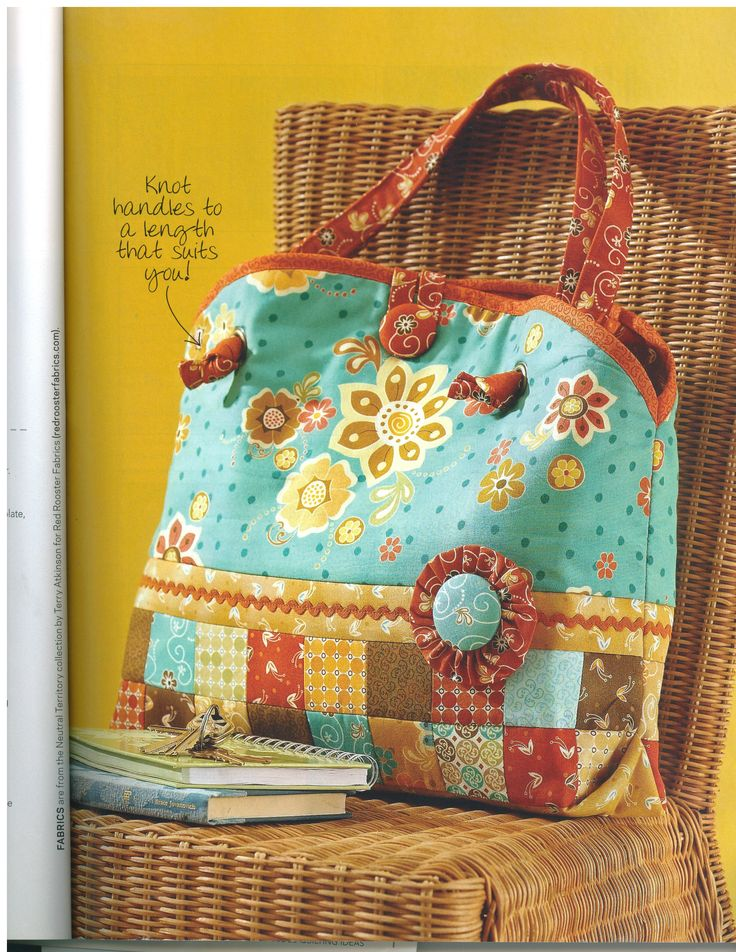 Quilt as you Go Bag. Wonderful gift for friends and lots of fun to make on a rainy day!