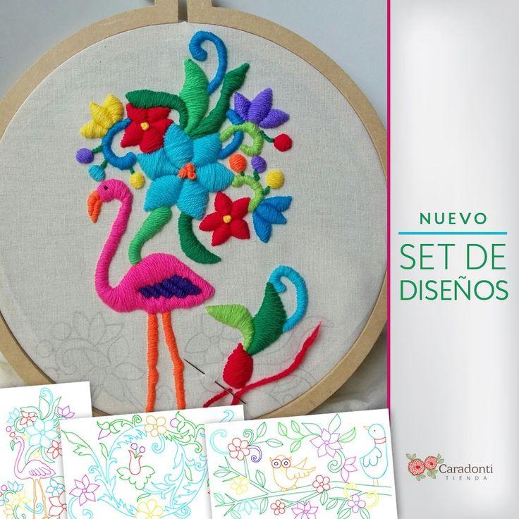 Set de diseños para bordado mexicano