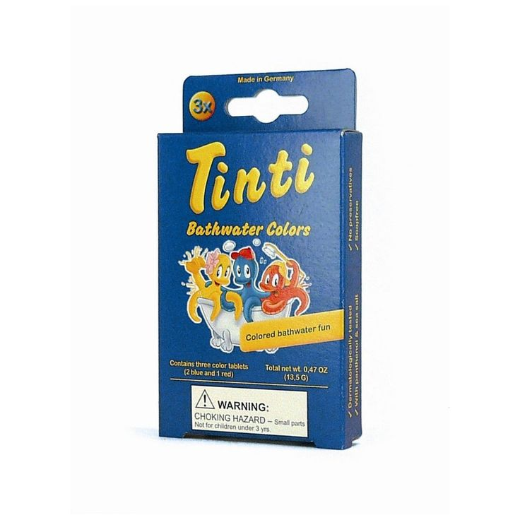 Tinti Natural Bathwater Tablets (single pack of 3)