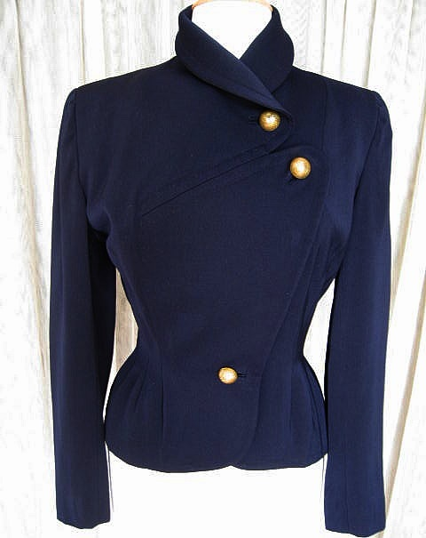 """Lord & Taylor nipped waist 1940s jacket styled in the manner of the """"Dior New Look"""""""