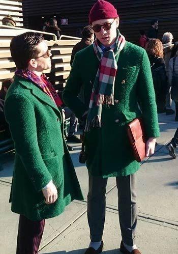 【冬】柄ストール×コートのオシャレな着こなし10選【海外】(メンズ) | Italy Web