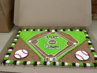 kids baseball field cake  | My Boys Roc: Final Baseball Party