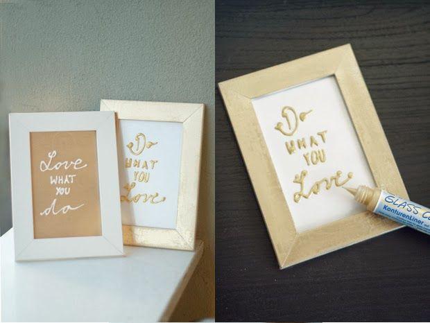 mein feenstaub – DIY, Deko, Design: Windowcolor mal anders: Spruchbilder in Gold und Weiß