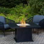 Real Flame Cavalier 43 in. Aluminum Propane Fire Pit Table in Black with Natural Gas Conversion Kit