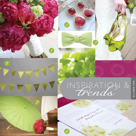 Ginkgo Green and Raspberry Wedding Inspiration: Wedding Inspiration, Colors Combos, Raspberries Wedding Colors, Wedding Ideas, Colors Combinations, Raspberry Wedding Color