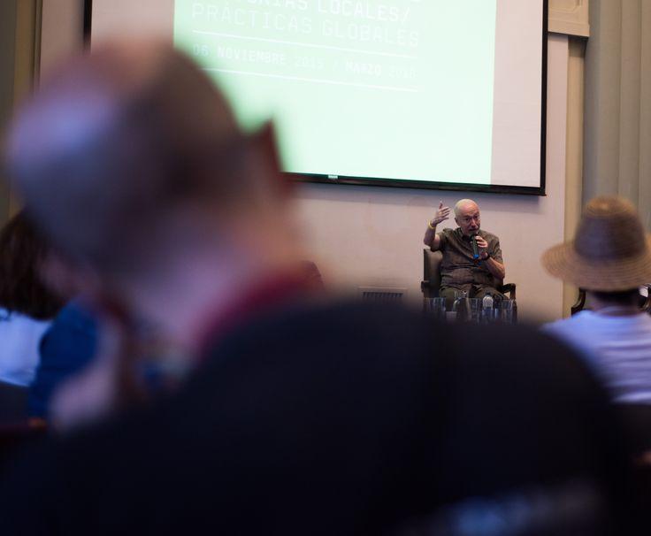 Gerardo Mosquera, reconocido crítico, gestor e historiador de arte en América Latina conversó con tres de los curadores del MDE15 (Nydia Gutiérrez, Fernando Escobar y Tony Evanko) sobre esta plataforma. El evento fue realizado el lunes 5 de octubre.