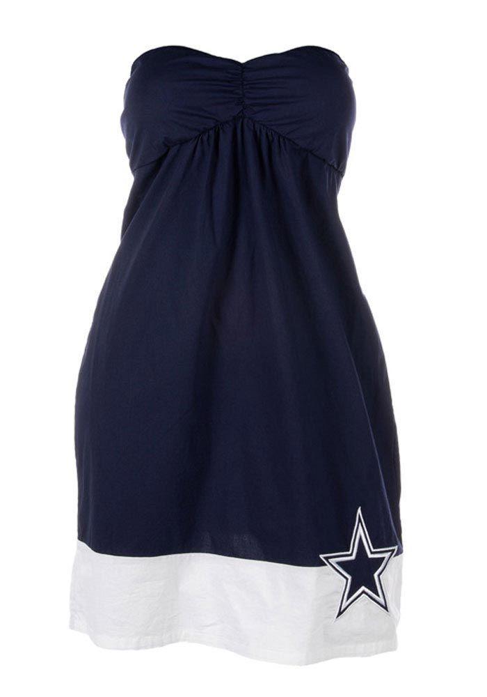 Dallas Cowboys Womens Navy Blue Oleander Tube Dress
