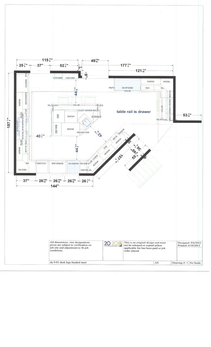12 best kitchen design 20 20 cad drawings images on for Draw kitchen floor plan
