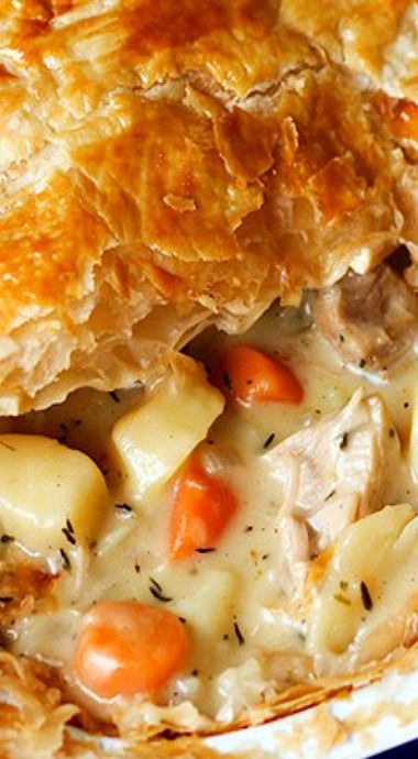 Creamy Chicken and Vegetable Puff Pie                                                                                                                                                     More