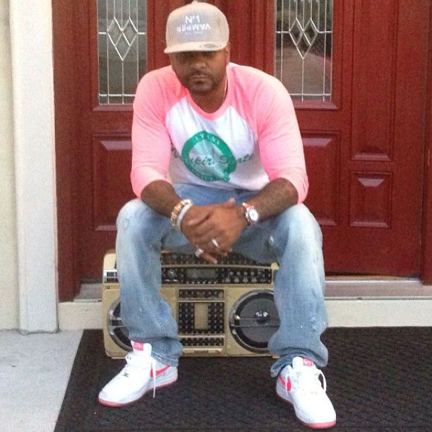 Jim Jones wearing Nike Air Force 1 White Pink