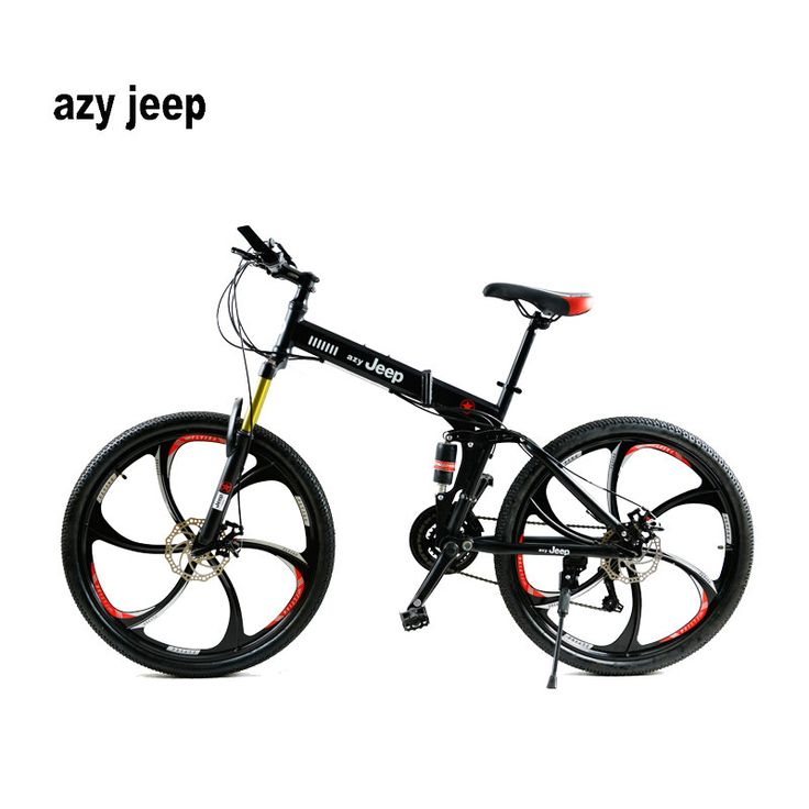 26 inches 21 Speed Folding Bicycle Male / Female / Student Mountain Bike Double Disc Brake Full Shockingproof Frame Brakes #inches, #Speed, #Folding, #Bicycle, #Male, #Female, #Student, #Mountain, #Bike, #Double, #Disc, #Brake, #Full, #Shockingproof, #Frame, #Brakes