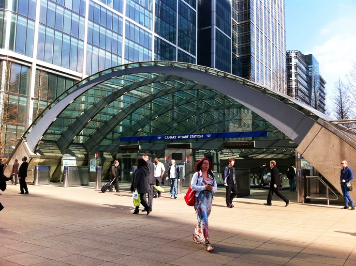 Canary Wharf tube station is a underground station on the Jubilee Line, between Canada Water and North Greenwich.