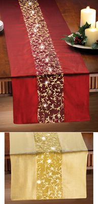 Lighted Holiday Table Runner