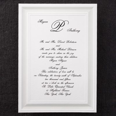16 best Monogrammed Wedding Invitations images on Pinterest Craft