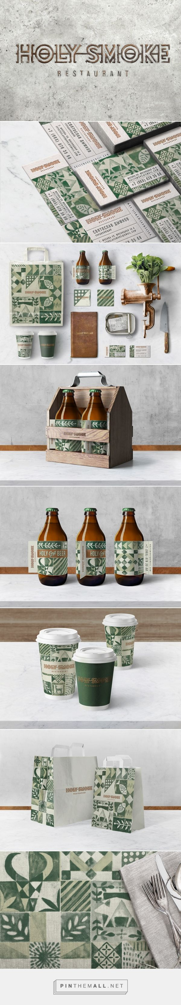 HOLY SMOKE RESTAURANT by Bureau Bumblebee on Behance curated by Packaging Diva PD. This is gorgeous identity packaging branding.