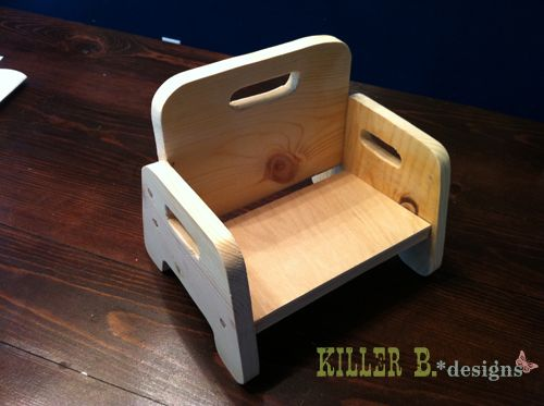 DIY toddler chair: 4' of 1x8 board