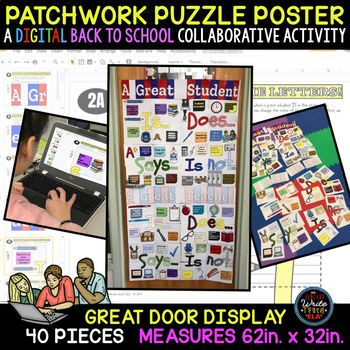 Patchwork Puzzle Poster: A Back to School DIGITAL Collaborative Activity
