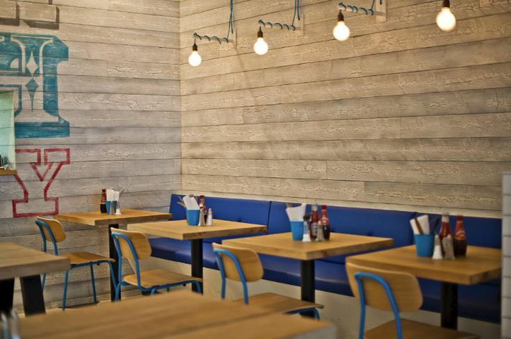 A fish and chip restaurant in Ealing, London: Kerbisher & Malt by Alexander Waterworth Interiors.