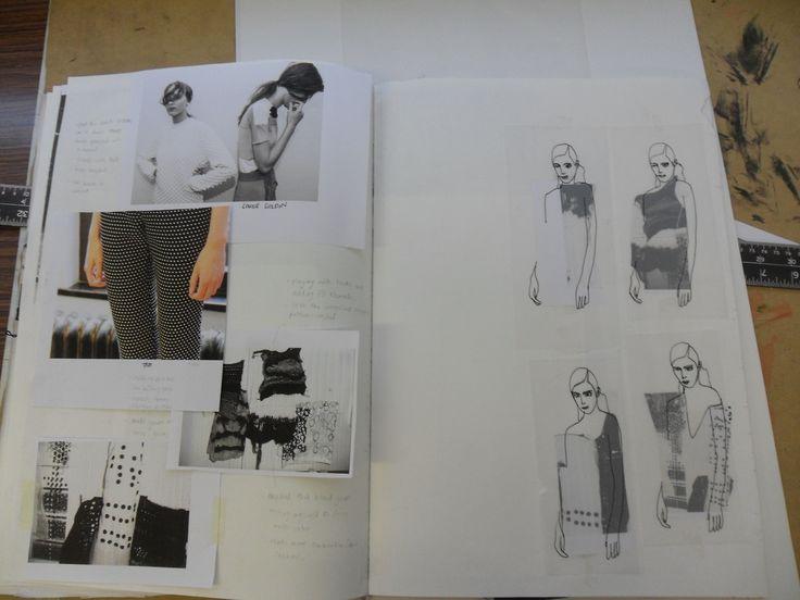 Fashion Sketchbook - fashion drawings & inspirations; fashion design development process; fashion portfolio // Louise Nutt