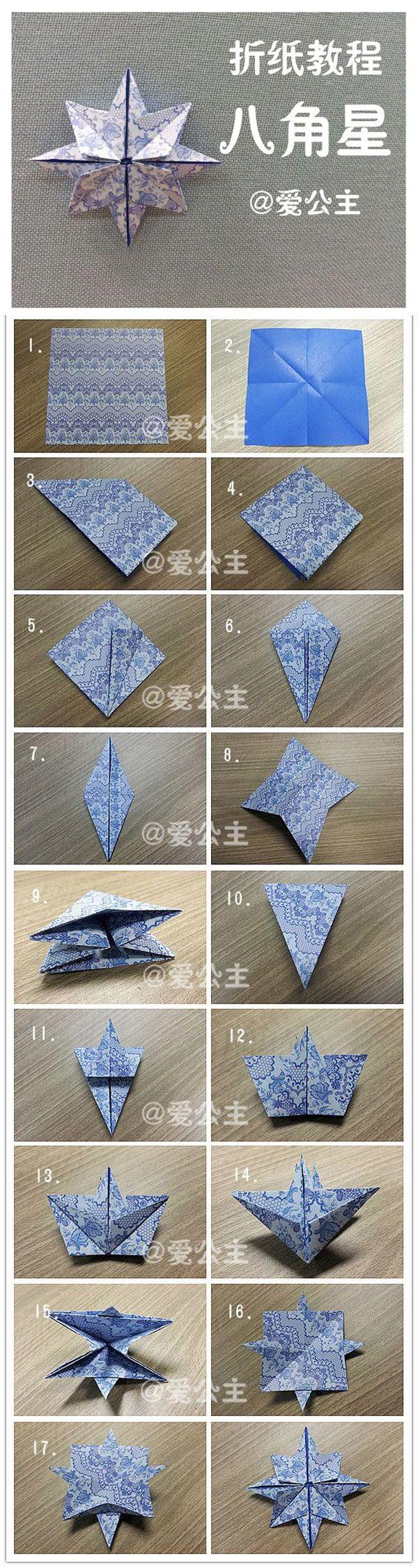 Tutorial para realizar rosa de los vientos con origami                                                                                                                                                                                 Más
