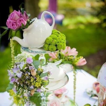 alice in wonderland wedding flower centerpiece  This is nice an unique