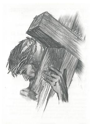 Jesus cargando la cruz – Dibujos de jesús