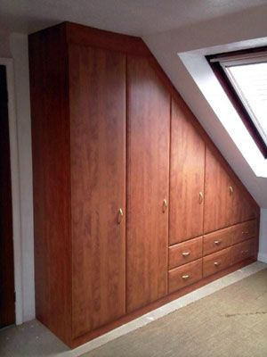 #Wardrobe #Storage - Awkward angled loft wardrobes for sloping ceilings